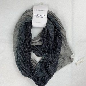 Croft & Barrow Metallic Gray Silver Infinity Scarf